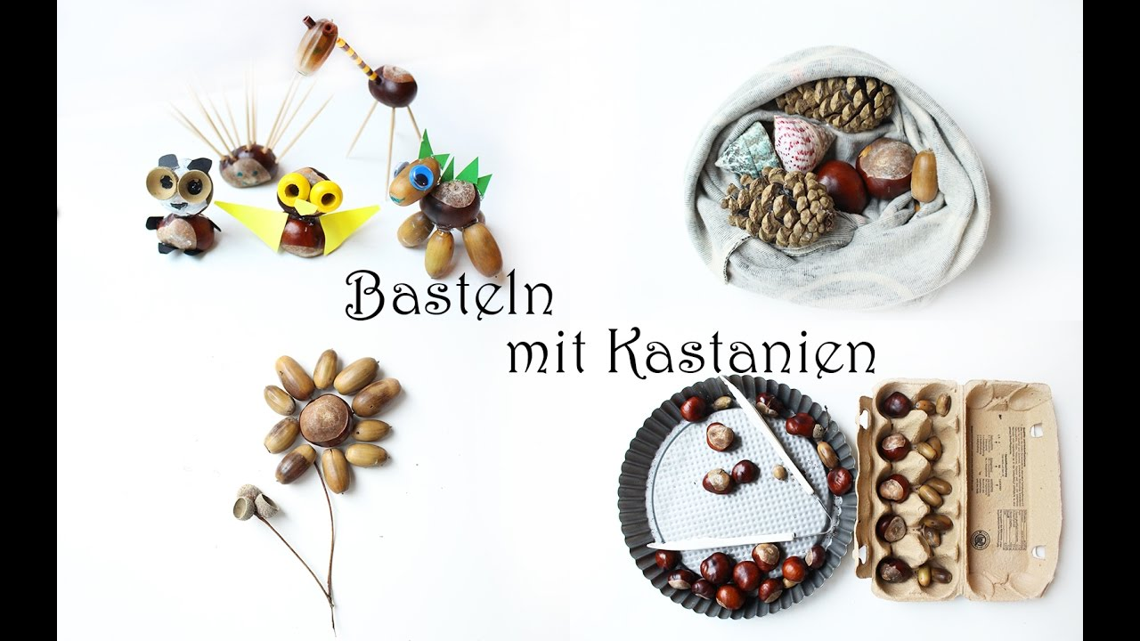Bastelideen Eicheln Kinder Conker Crafts And Activities For Kids Chestnut Animals Nature Tray
