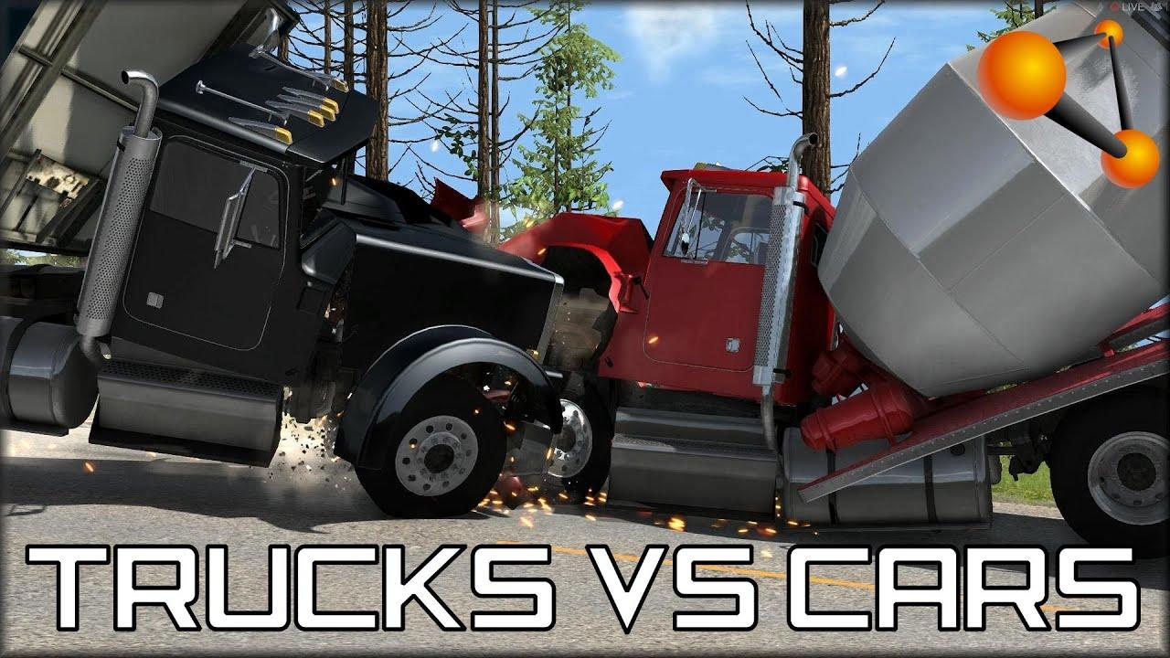 BeamNG Drive Trucks Vs Cars #3 - YouTube