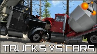 BeamNG Drive Trucks Vs Cars #3