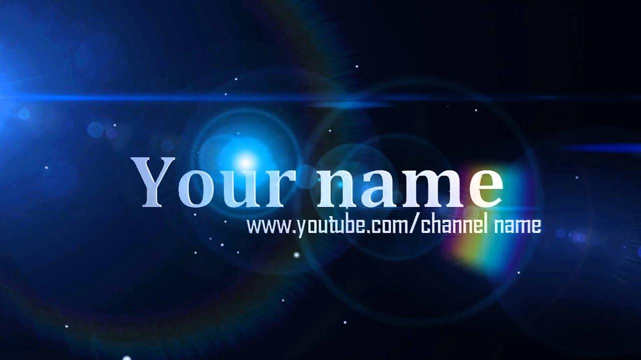 интро для канала youtube скачать шаблон