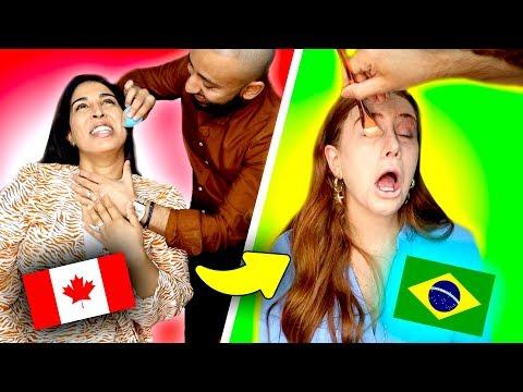 Desafio MAKE DE CASAL ✨🔥🇨🇦CANADA VS BRASIL 🇧🇷🔥✨