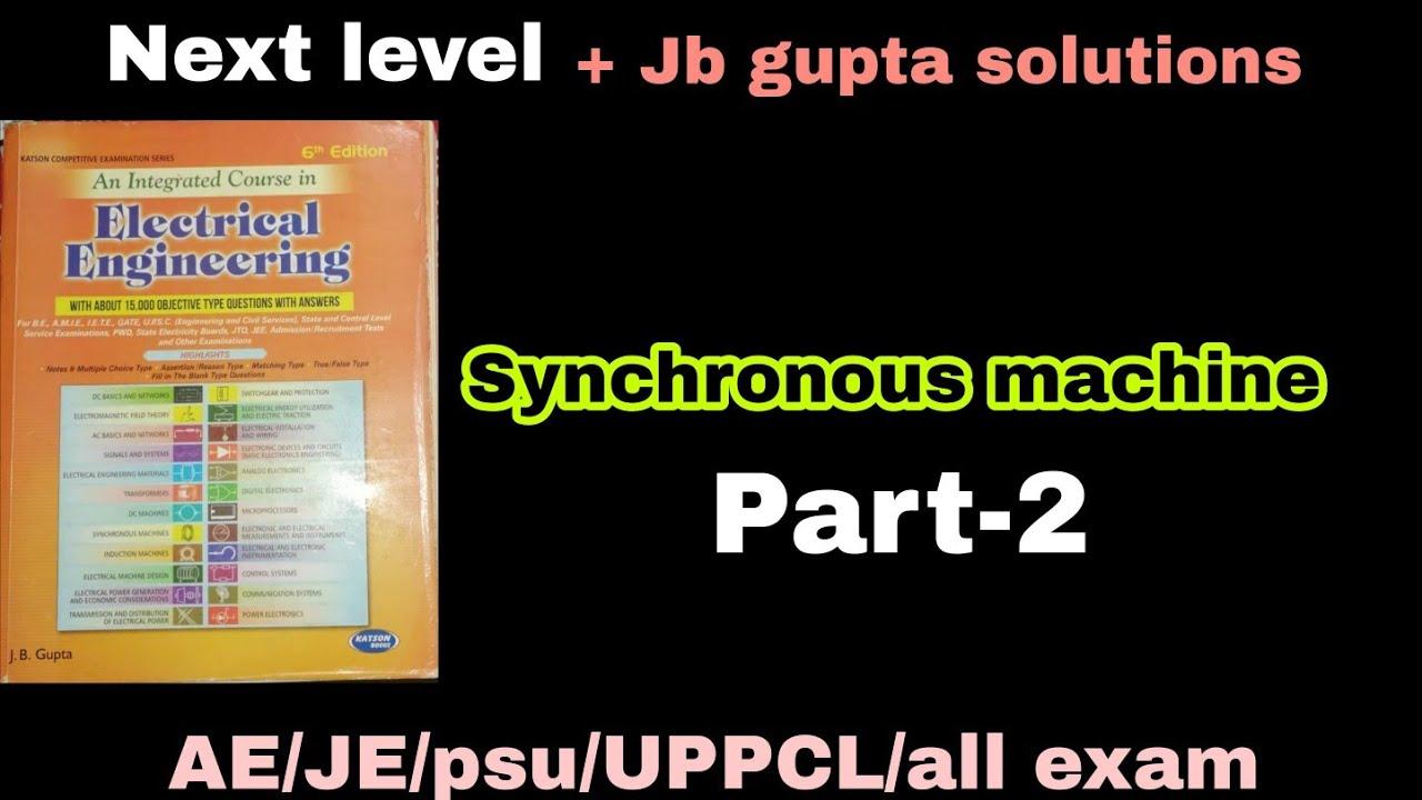 Jb gupta/synchronous machine/part-2