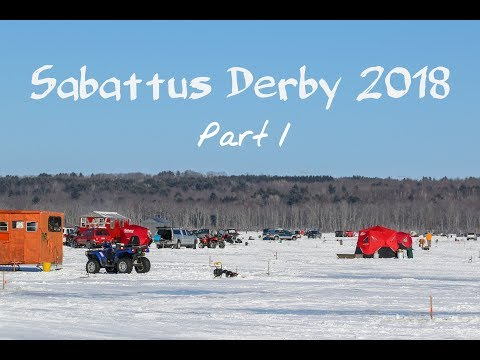BIGGEST ICE FISHING DERBY IN MAINE Part 1