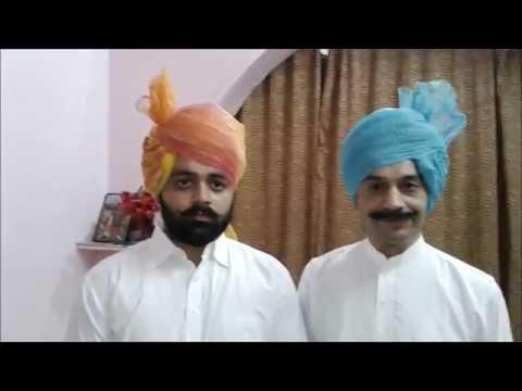 How to Tie / wrap / wear a Rajasthani / jaipuri / jodhpuri / Rajputi Safa / Turban / Pagdi.