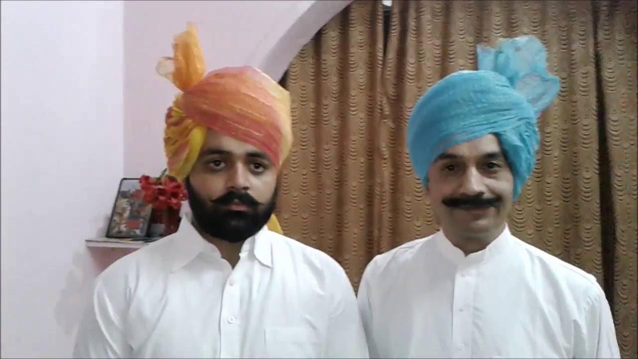 How To Tie Wrap Wear A Rajasthani Jaipuri Jodhpuri Rajputi Safa Turban Pagdi You