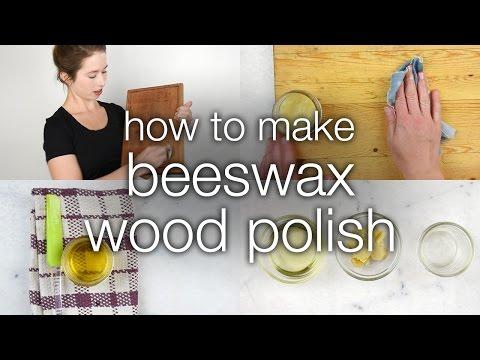 How to Make DIY Beeswax Wood Polish