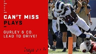 Goff, Gurley & Cooks Make Big Plays on Rams TD Drive!