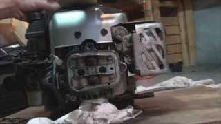 Briggs intek 60 : Soupapes règlées et frein moteur démonté.