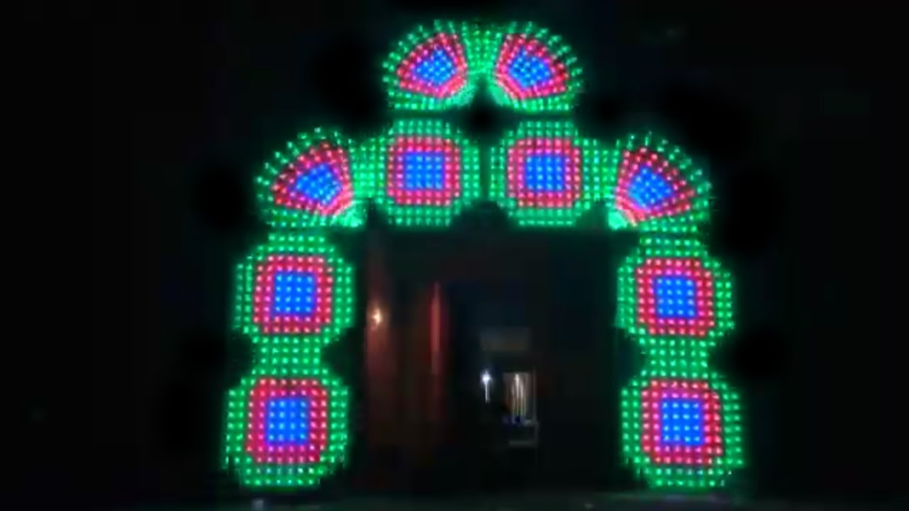 Pixel LED Arch Gate - Pixel led designs made in India