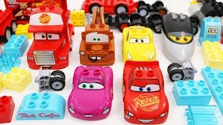 Building Blocks Toys for Children Lightning McQueen Cars Trucks for Kids