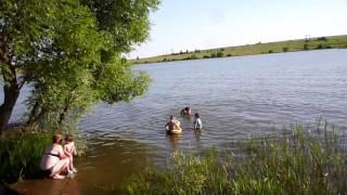 отдых в стрельцах на речке пронь  вода солнце дети рады любимое место отдыха приезжих отдыхающих