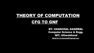 cfg to gnf   theory of computation
