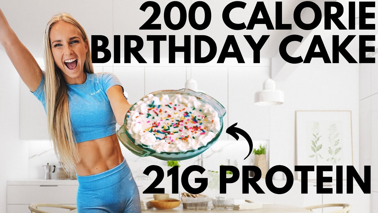 200 calorie Protein Birthday Cake! 21g protein (delicious low cal / high protein anabolic recipe)