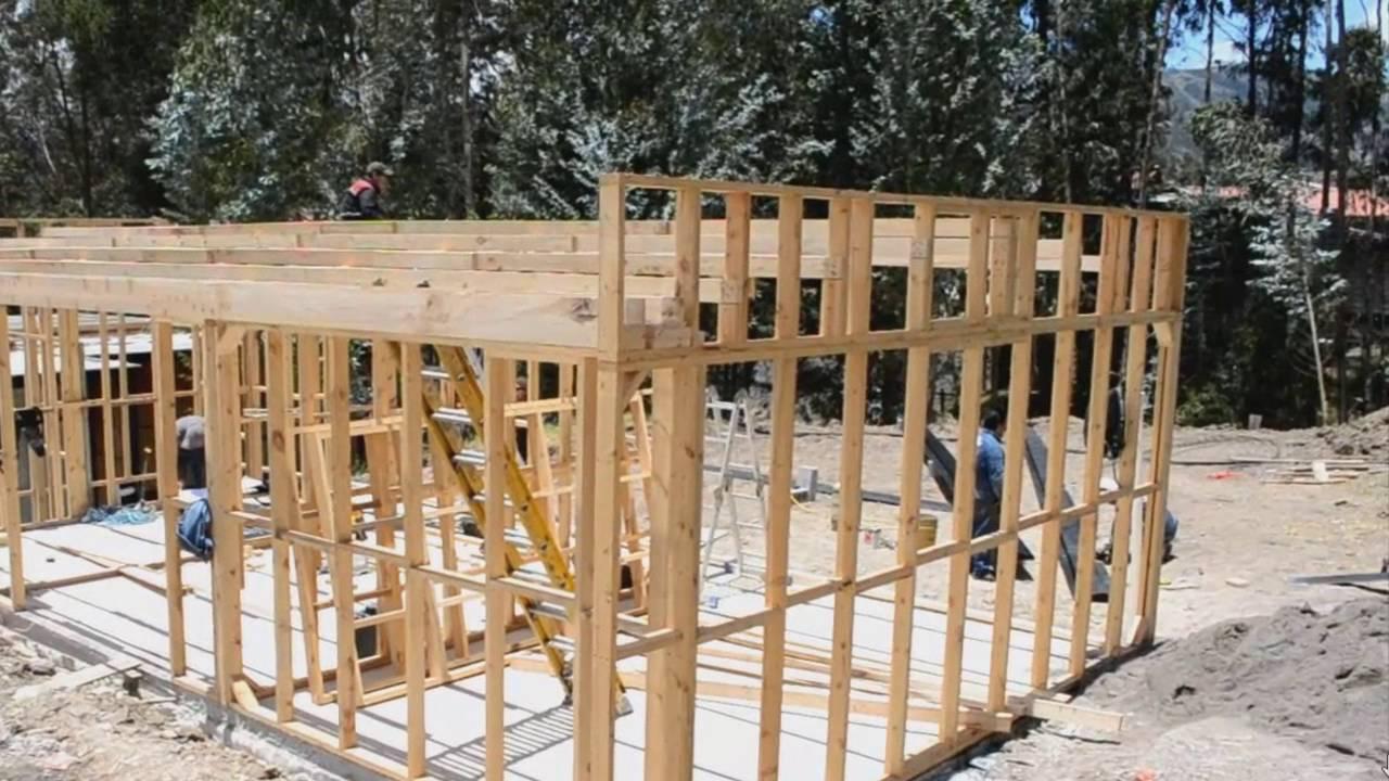 Casa de madera prefabricada modelo a d cuenca ecuador youtube - Casas prefabricadas cuenca ...