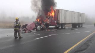 Tractor Trailer Fire Extinguishment
