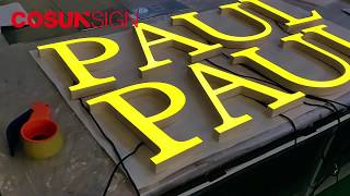 CosunSign LED Mini Acrylic Letter Sign, Shop Brand 3D Clear Acrylic Letter