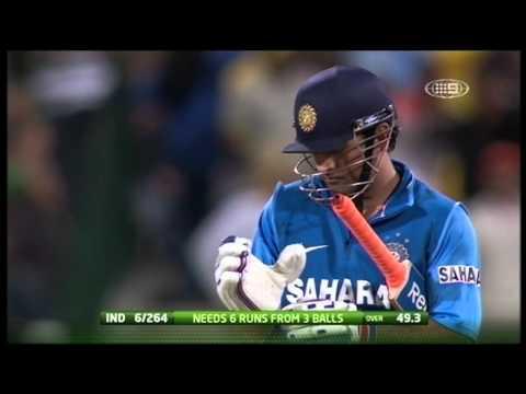MS Dhoni's 112-metre six against Australia