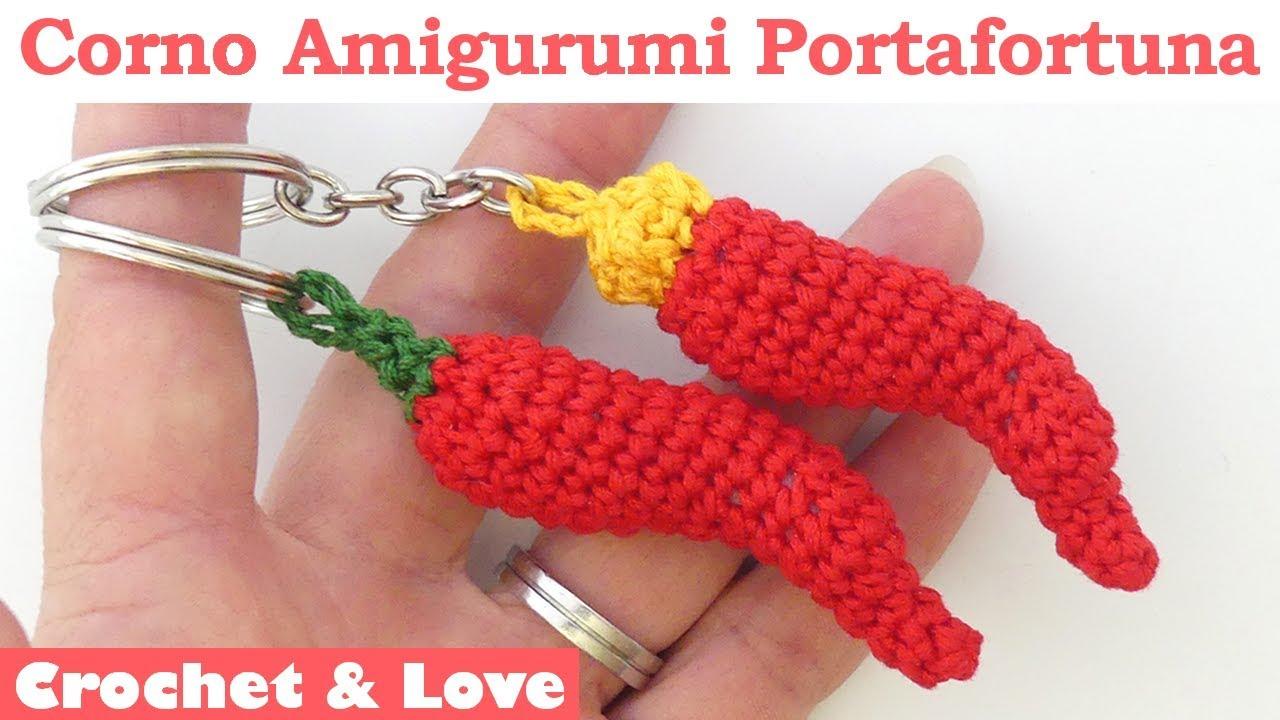 Corno Porta Fortuna.Amigurumi Lucky Chili Pepper Tutorial