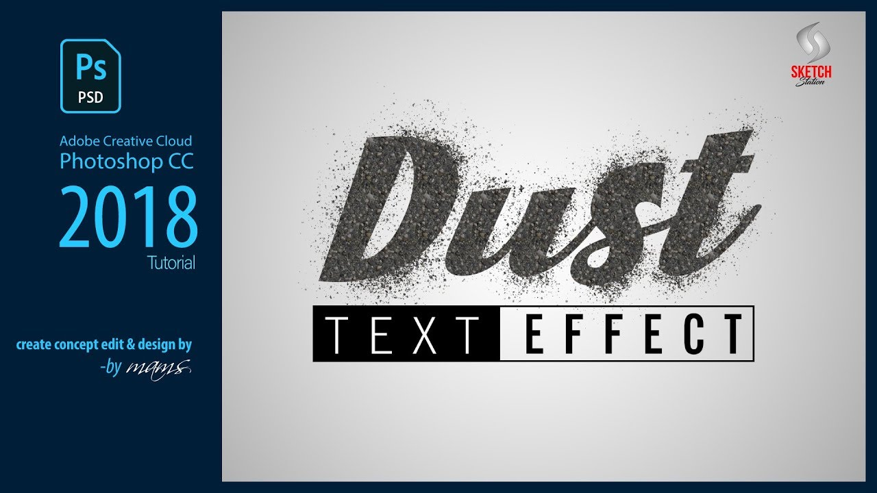 Dust Text Effects I Photoshop CC Tutorial I Sketch Station