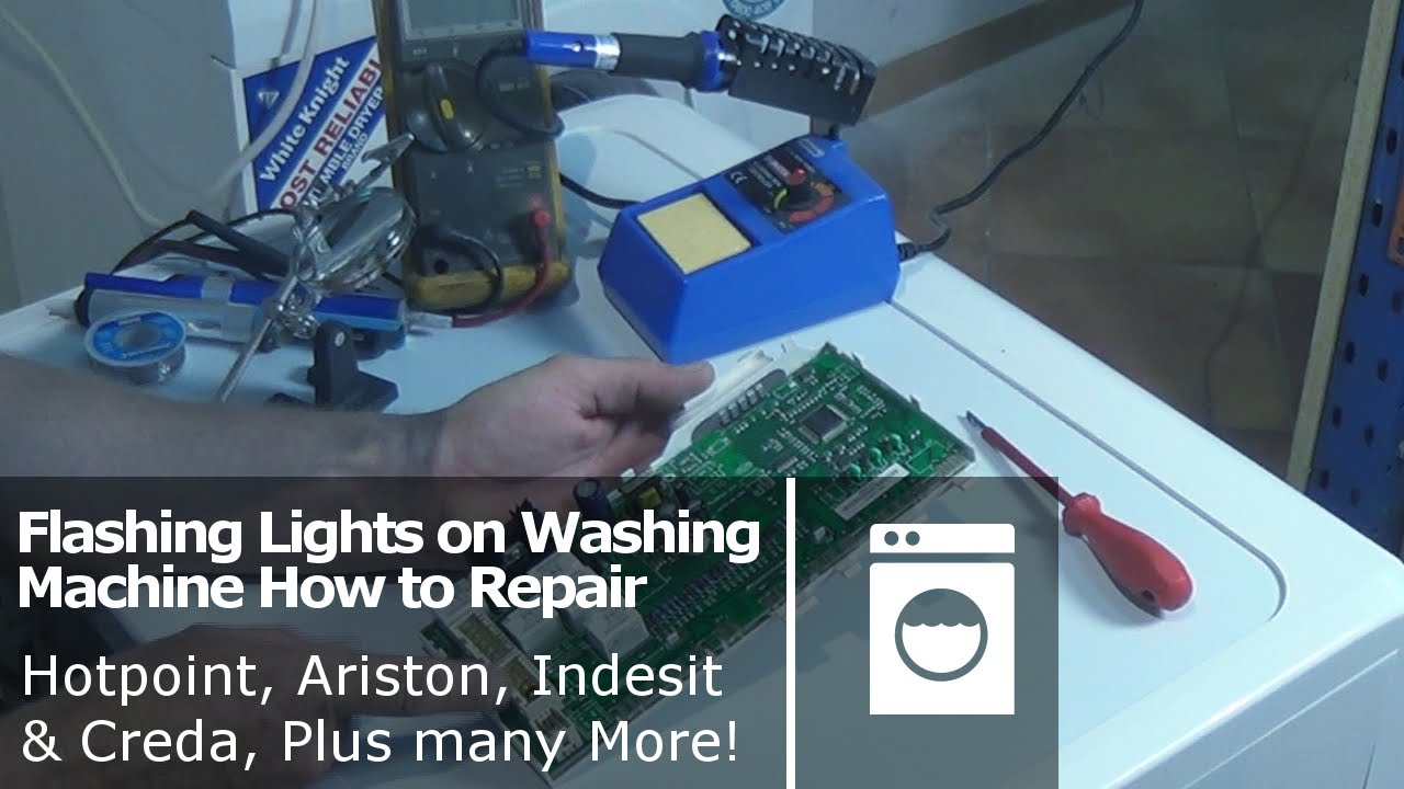 Flashing Lights On Washing Machine How To Repair Hotpoint Ariston Capacitor Wiring Diagram Further Indesit Creda Plus Many More Youtube