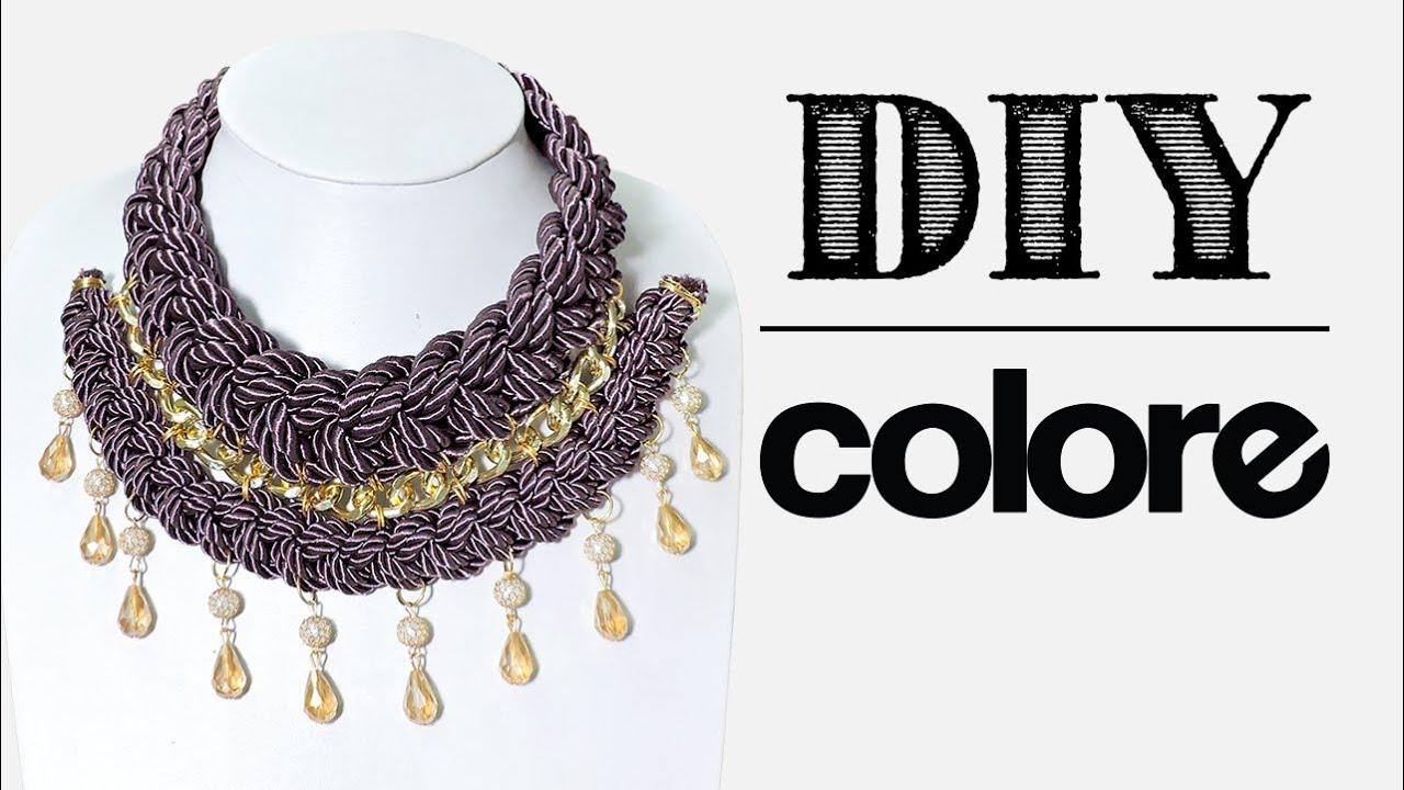 19bd00e61849 DIY Collar Trenzado Doble