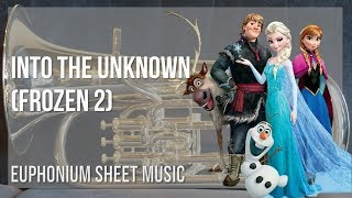 EASY Euphonium Sheet Music: How to play Into the Unknown (Frozen 2) by Idina Menzel