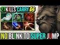 1hit K.o Carry  Earthshaker  Super Jump Without Blink Dagger 27kills 7.19   Dota