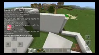 Minecraft PE-episode 1- tying to make friends.