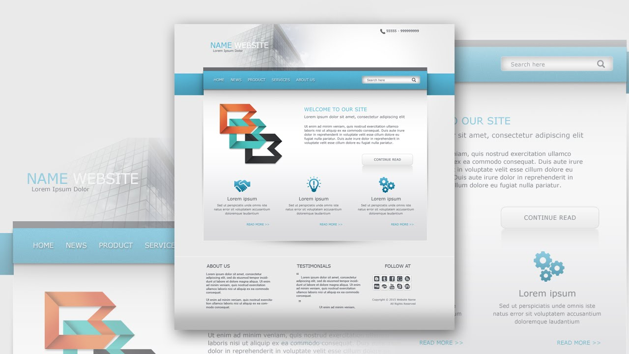 Photoshop tutorial web design clean and simple business youtube photoshop tutorial web design clean and simple business baditri Gallery
