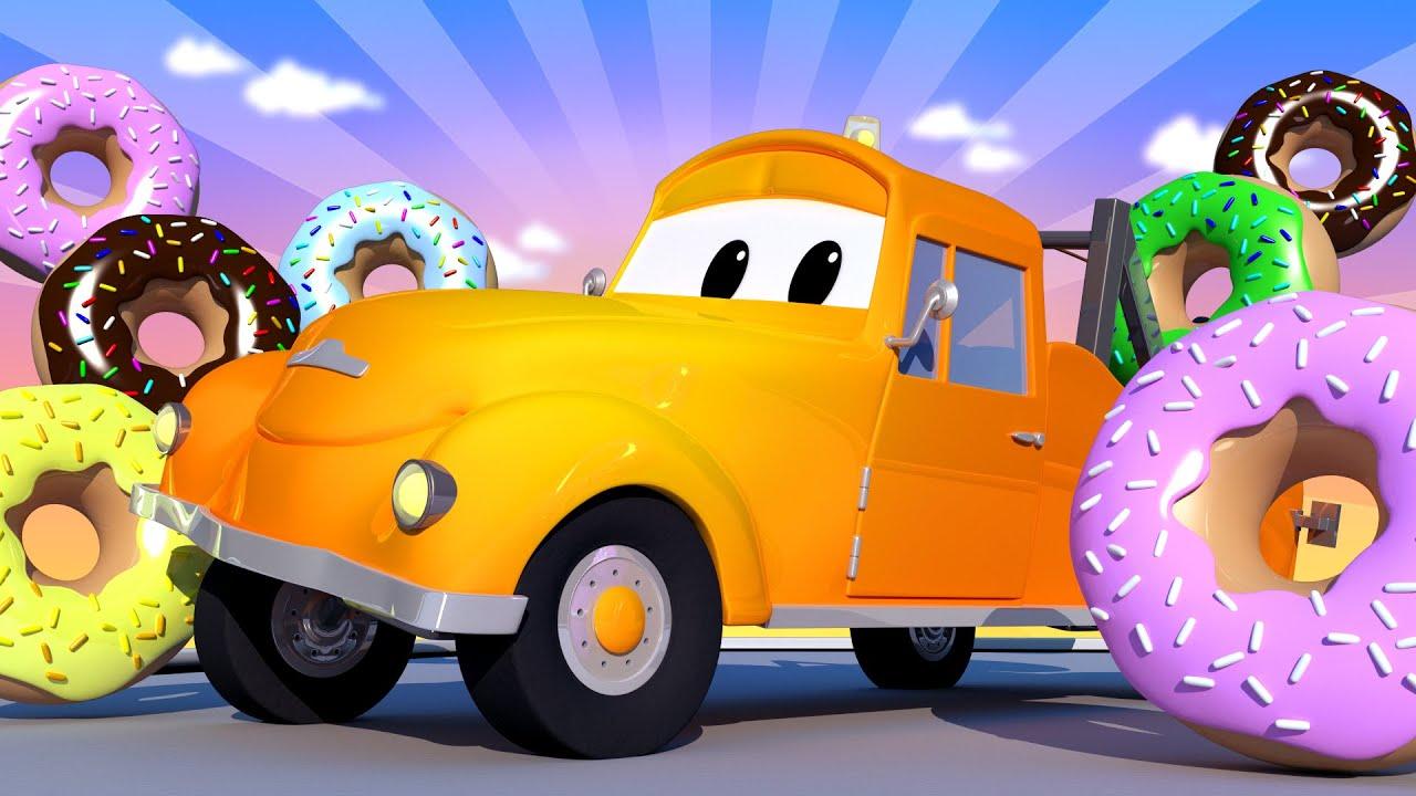 Xe tải kéo Tom - Ngày hội bánh Donut đặc biệt - Những chiếc bánh Donut nguy hiểm