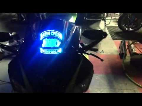 Motorcycle Led Kit >> Motorcycle multicolor led light kit and light up windscreen - YouTube