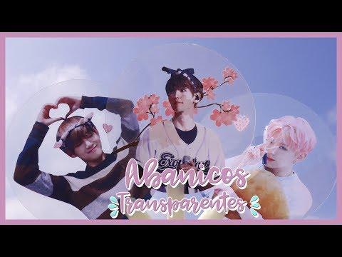 DIY K-POP : Make your own Transparent Fans / Uchiwas of your favorite groups!