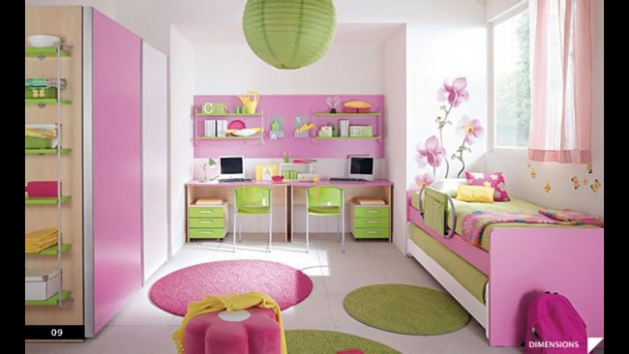 Girls bedroom decorating ideas youtube for Idea bedroom