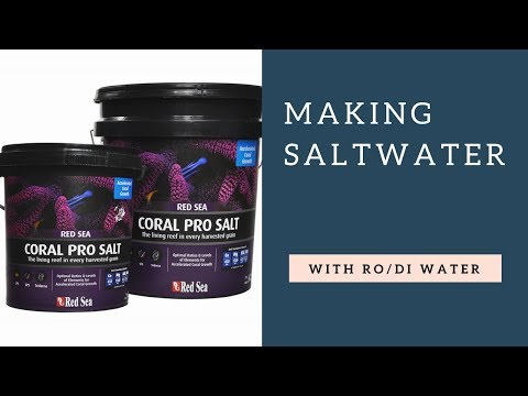 making-saltwater-with-ro/di-filter