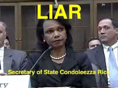 Condoleezza Rice  Liar, Secretary of State, War Criminal pt1