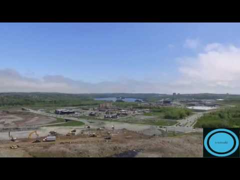 Aerial footage of Dartmouth Crossing Nova Scotia