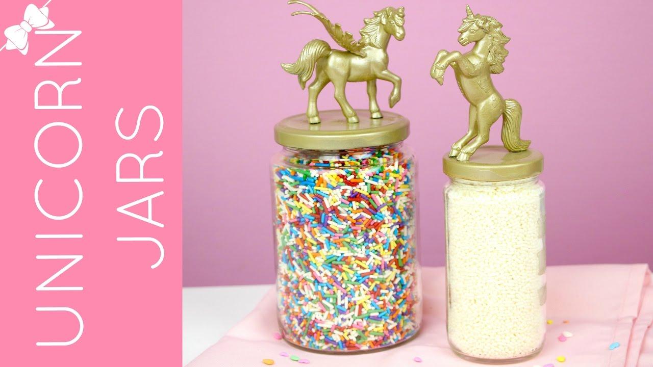 Diy Unicorn Jars Lindsay Ann Bakes Youtube