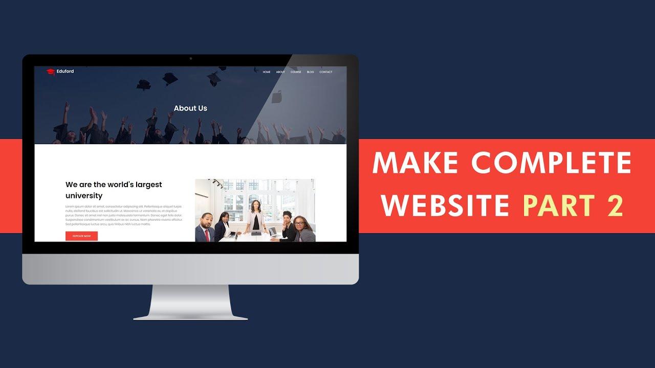 How To Make Website Complete Website   College Website Design   Part 2