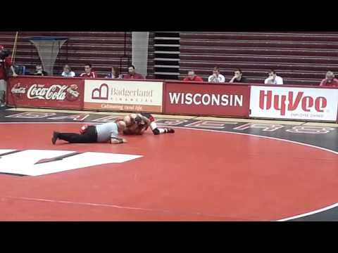 Wisconsin Wrestling- Red and White Scrimmage - Thielke vs Callavaris