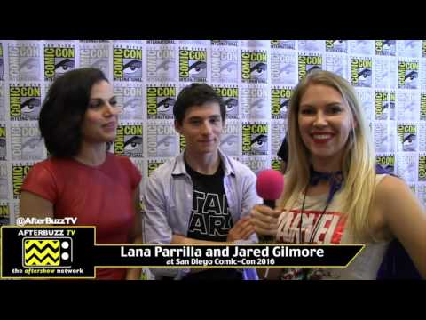 Lana Parrilla and Jared Gilmore (OUAT) at San Diego Comic-Con