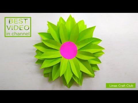 DIY Paper Dahlia Tutorial   My Wedding Backdrop Flowers   linascraftclub