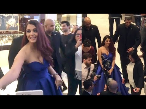 Aishwarya Rai's GRAND Entry In DUBAI Mall For Longines New Store Launch