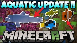 Minecraft Aquatic Update ! Dolphins ! Fish ! Coming Soon ! Xbox / MCPE / PS4 / PS3 / Switch