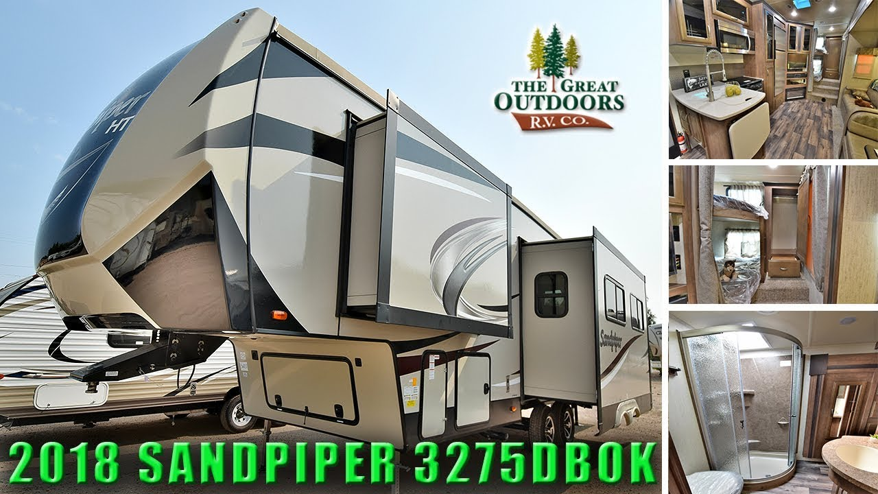 2018 Sandpiper 3275dbok Double Bed Bunk Model Fifth Wheels