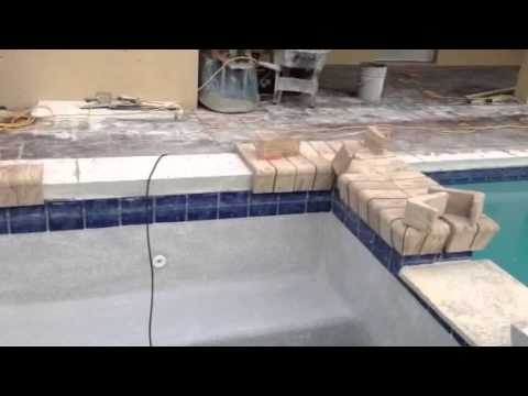 Installing Remodel Pool Coping Youtube
