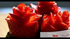 Erdbeerrose in unter 30sek. zubereiten - Kochtrick
