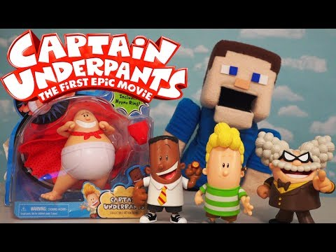 Captain Underpants Movie Toys Action Figures Just Play Professor Poopy Pants Harold George Unboxing Youtube