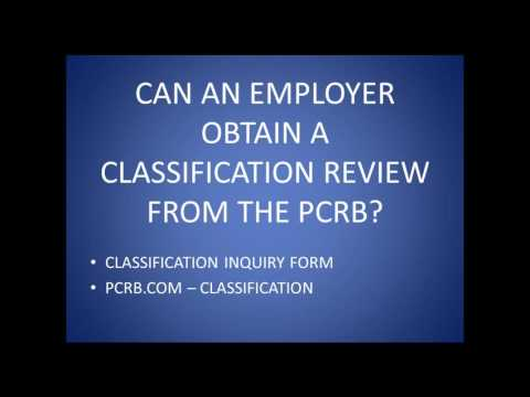 NFIB PA Webinar-Workers Comp classifications and Appeals in Pennsylvnaia