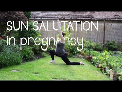 PREGNANCY YOGA   Sun salutation in pregnancy