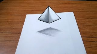 Floating pyramid-3D Trick Art On Paper